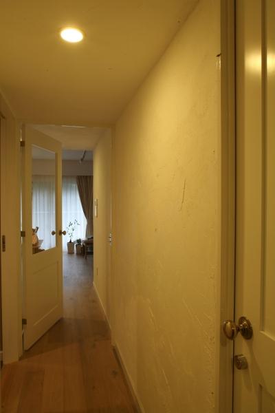 表情が素敵な漆喰壁の廊下 (K邸)