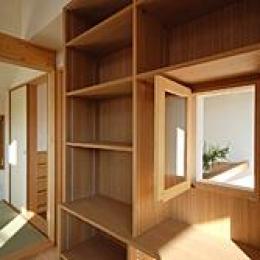 三鷹市I邸 (仕事部屋の吹き抜けに面する窓)