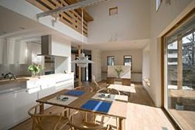 川崎市S邸 (庭に対面するキッチン)