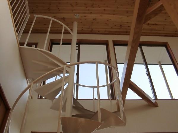 ロングヒルの家の部屋 螺旋階段
