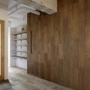西葛西の住居 vol.1の写真 合板を使った質感のある壁