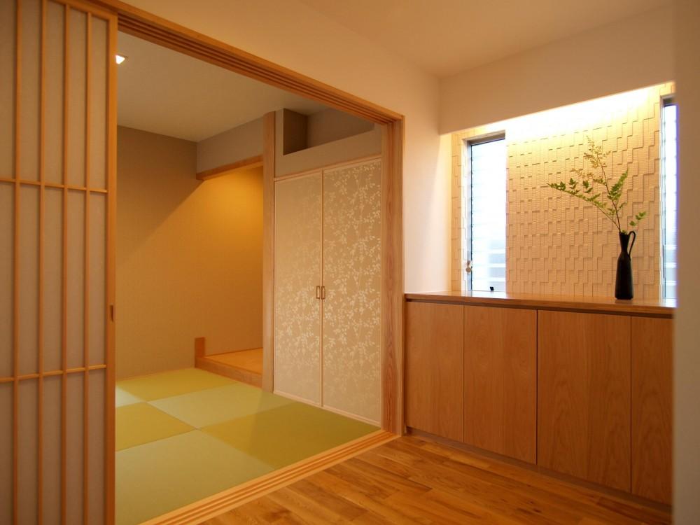 玄関 (桃ノ木の家)