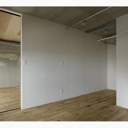西葛西の住居 vol.2 (白の壁を基調とした部屋 (撮影:繁田諭))