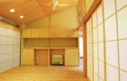 佐賀の家(シンプルな大屋根の住宅) (リビング)