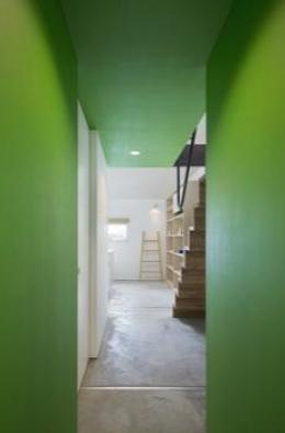 POPPO (グリーンの壁がアクセントな廊下)