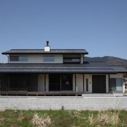 揖斐川町谷汲の家-木格子が目を引く外観