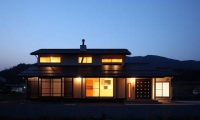 外観ライトアップ|揖斐川町谷汲の家