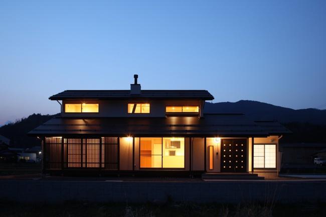 揖斐川町谷汲の家の写真 外観ライトアップ