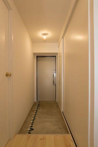 一宮市のマンションリノベ @2014の部屋 土間のある玄関