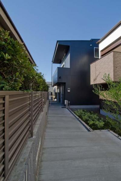 世田谷の住宅3 (道路からの外観)