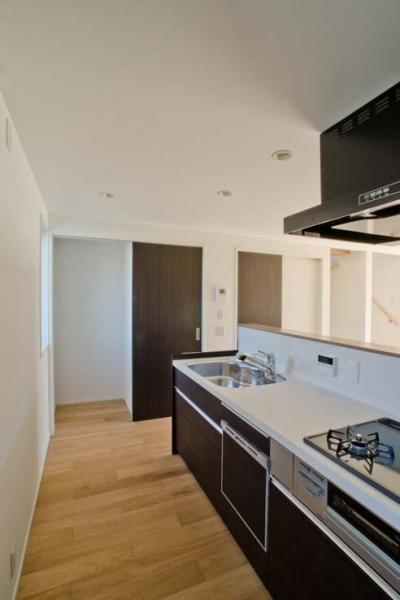 世田谷の住宅3 (食洗器を組み込んだシステムキッチン)