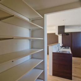 世田谷の住宅3 (パントリーからキッチンを見る)