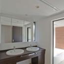 世田谷の住宅3の写真 ダブルボウル洗面台