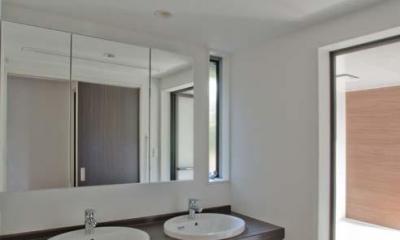 ダブルボウル洗面台|世田谷の住宅3