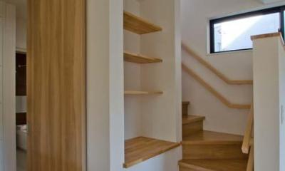 オープンなリビング階段|世田谷の住宅2