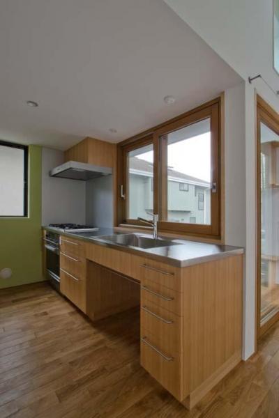 世田谷の住宅 (使い方に合わせた造作キッチン)