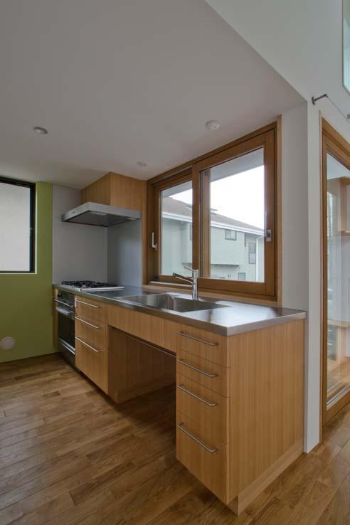 世田谷の住宅の写真 使い方に合わせた造作キッチン