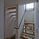 世田谷の住宅の写真 光を取り入れる階段