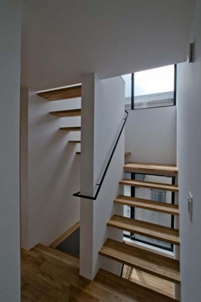 世田谷の住宅 (光を取り入れる階段)
