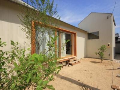三条の家 (リビングと一体感のある中庭)