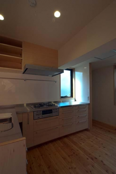 L型キッチン (船橋の住宅)
