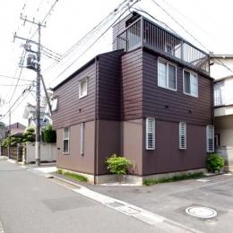 立川の住宅 (北東側外観)