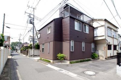 北東側外観 (立川の住宅)