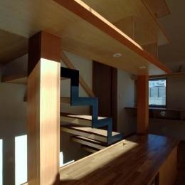 立川の住宅 (柱と同材のカバー)