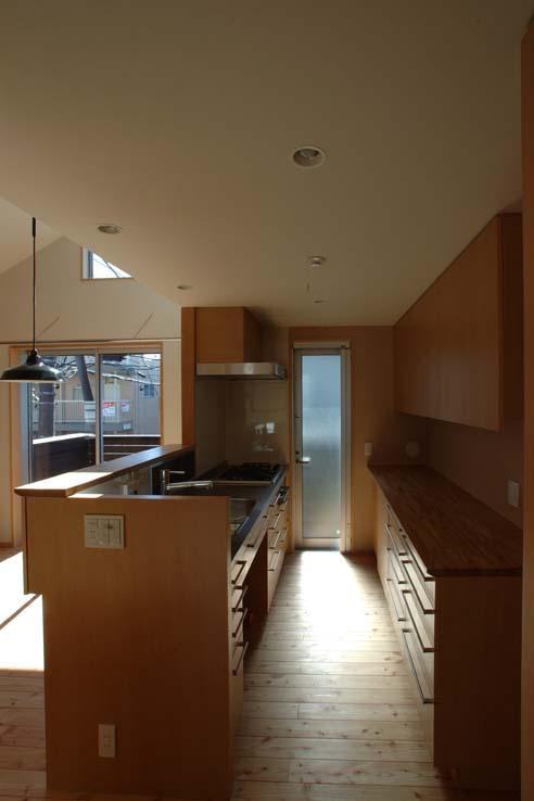 立川の住宅の写真 家具製作のキッチン