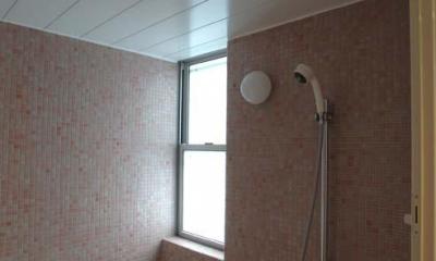 立川の住宅 (明るいバスルーム)