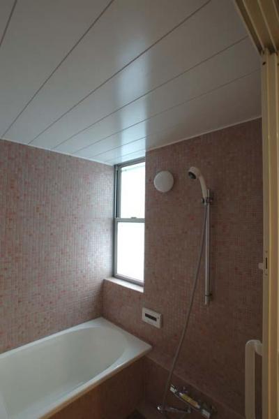 明るいバスルーム (立川の住宅)