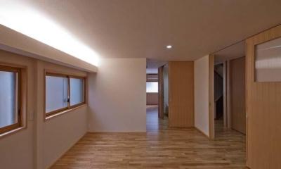 間接照明は調光可能|江東の住宅