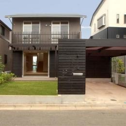 習志野の住宅 (道路側外観)