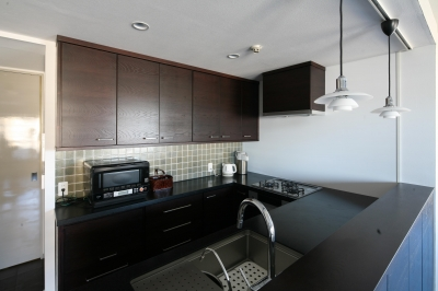 キッチン全体 (M邸)