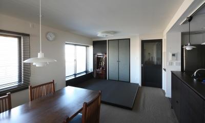小上がりの畳スペース|M邸