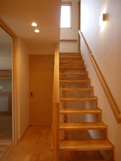 オープン型階段 (亀崎の家)
