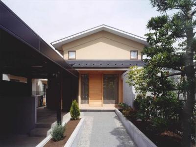 武蔵中原の家 (アプローチ)