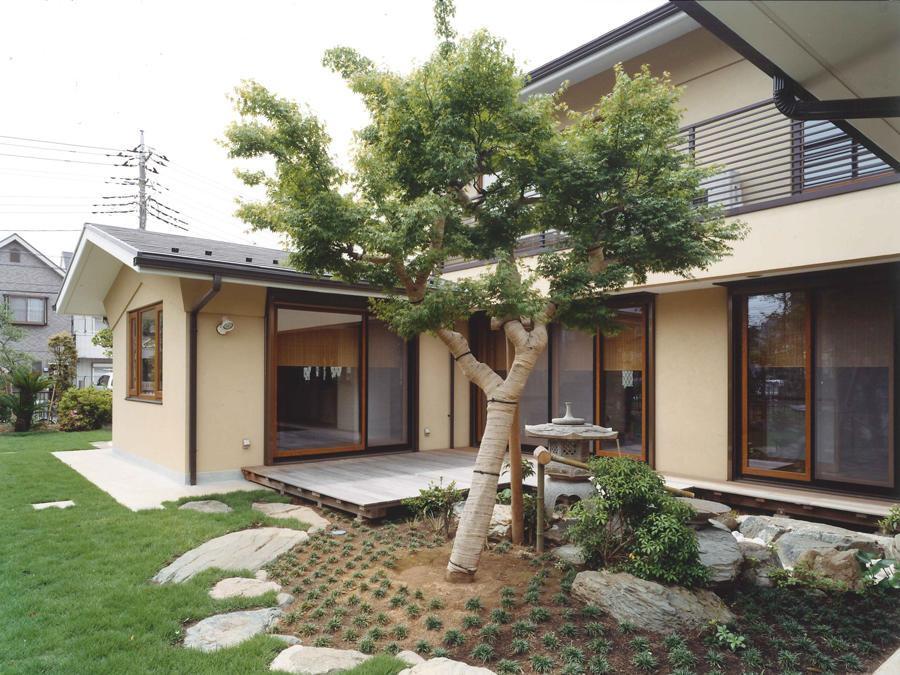 武蔵中原の家の部屋 中庭