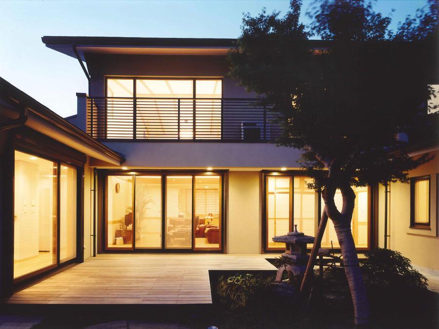 武蔵中原の家の部屋 夜景
