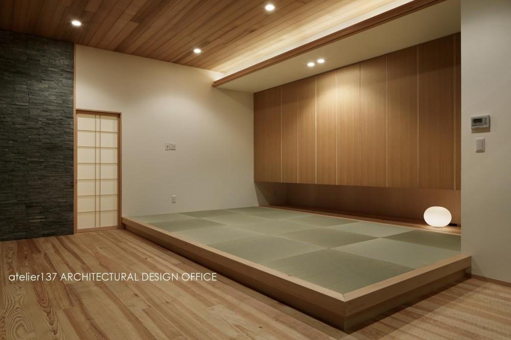 040軽井沢Cさんの家 (和室夕景)
