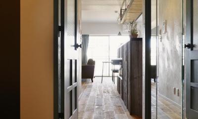 LDK入口|T邸・好きなものに囲まれて暮らせる家