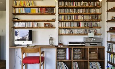 LDK-趣味スペース|T邸・好きなものに囲まれて暮らせる家
