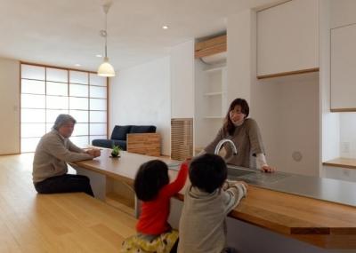 稲口町の家 (会話の出来るキッチン)