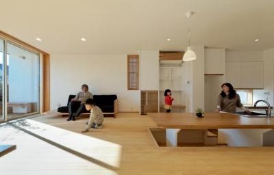 稲口町の家 (掘りゴタツ式ダイニングキッチン)
