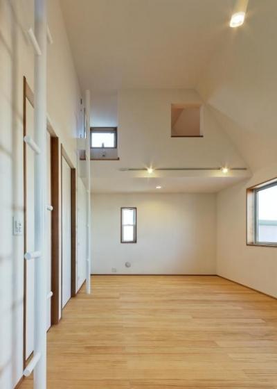 ロフト付きの子供部屋 (稲口町の家)