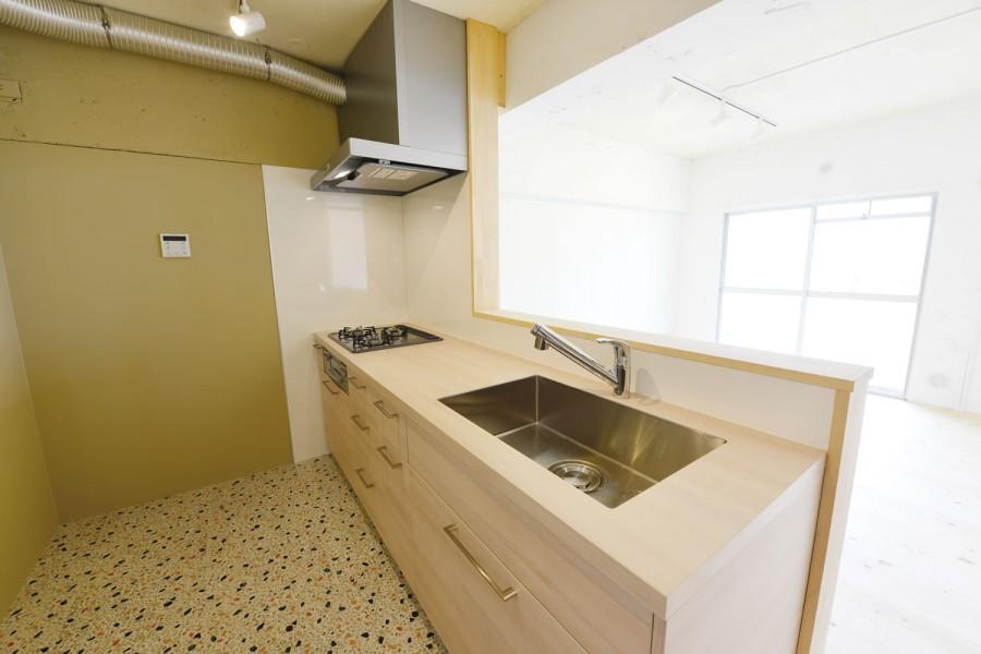 木漏れ日のある暮らし。の部屋 パイン材を使用したキッチン