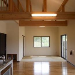 和室と一体感のあるリビング (A邸)