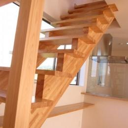 田上の家 (木を感じるオープン型階段)