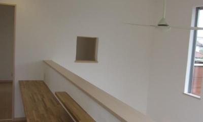 冨波の家 (吹き抜けの壁)