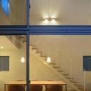 LucentCourtHouseの写真 中庭から居間を見る (撮影:岡本公二)